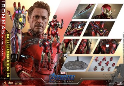 Hottoys 17/8 ironman mk85 bd + war machine iron patriot