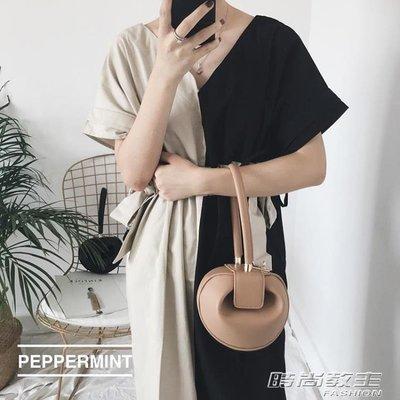 手拎包網紅潮韓國小眾包包女圓形復古手提包DBX