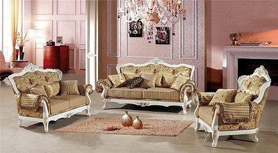 【大熊傢俱】A20 玫瑰系列 法式烤漆布沙發 歐式沙發 實木組椅 實木沙發 數千坪展示場