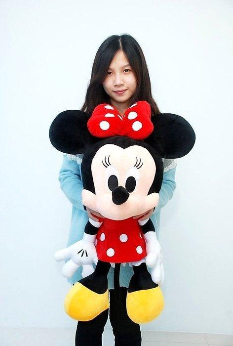 超大米奇娃娃~米妮娃娃~正版迪士尼~米奇玩偶~高70公分~米老鼠玩偶~~熱門商品
