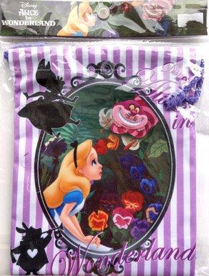 【卡漫迷】 愛莉絲 束口袋 鏡子 ㊣版 收納袋 小提包 萬用包 相機 小物 愛麗絲 夢遊仙境 Alice 化妝品
