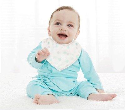 店長嚴選寶寶圍嘴純棉嬰兒三角巾新生兒口水巾按扣防吐奶方巾
