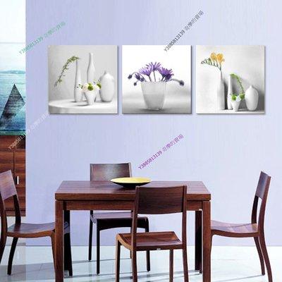 【60*60cm】【厚2.5cm】花瓶-無框畫裝飾畫版畫客廳簡約家居餐廳臥室牆壁【280101_255】(1套價格)
