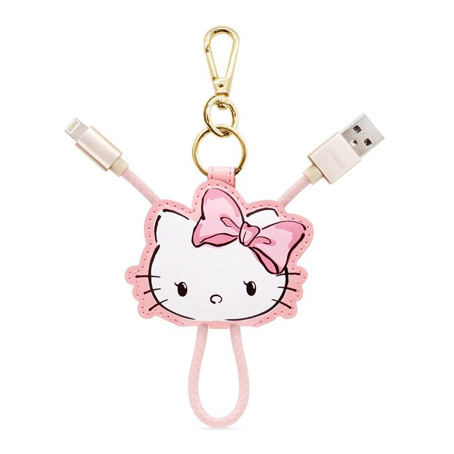 現貨中免運費 永澄GARMMA Hello Kitty Apple Lightning皮革吊飾傳輸線 甜美款【板橋魔力】