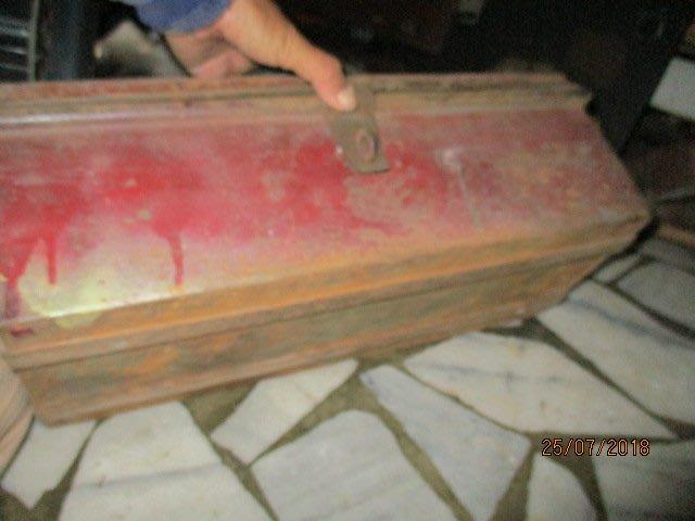 古物級..工具箱底2條加強..特殊老工具.內乘盒...真正老..工業族