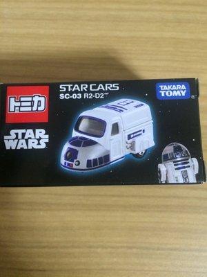 Tomy tomica 星際大戰 黑白武士 R2-D2 多美車