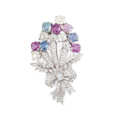 【JHT金宏總珠寶/GIA鑽石專賣】天然鑽石造型胸針/材質:18K(Z00005)