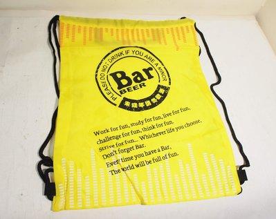 全新,麒麟啤酒 BAR BEER 潮流街包 ,束口背包,後背包