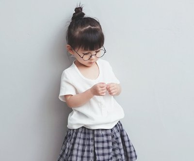 【Mr. Soar】 **清倉** A163 夏季新款 韓國style童裝女童純棉白色短袖上衣 現貨