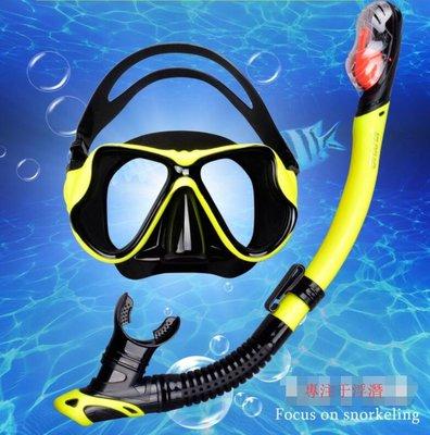 潛水鏡 浮潜三宝 FYU防雾近视成人儿童面镜装备套装全干式呼吸管 潜水镜【莎芭】