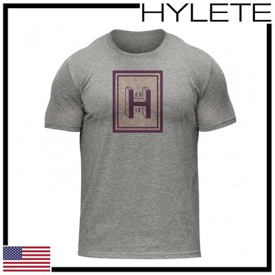 ►瘋狂金剛◄ 低調灰 HYLETE aspect tri-blend crew tee 柔軟 透氣 短袖T恤