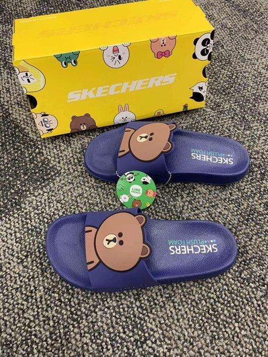 安安精品保證正品~超療育LINE聯名款拖鞋彩色Line Friend角色和毛絨泡沫輪廓鞋墊3D設計細節