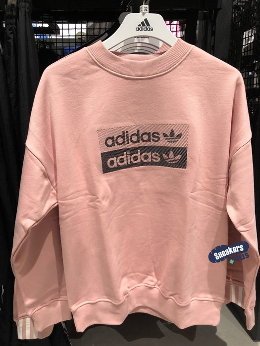 ➕sneakersplus➕adidas Originals Sweatshirt 女 粉色 大學T 衛衣 EC0746