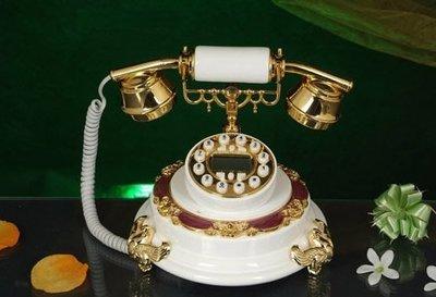 福利館◎【復古風仿電話x免運優惠中x贈USB燈】GDB-236A 高級樹脂系列 經典電話