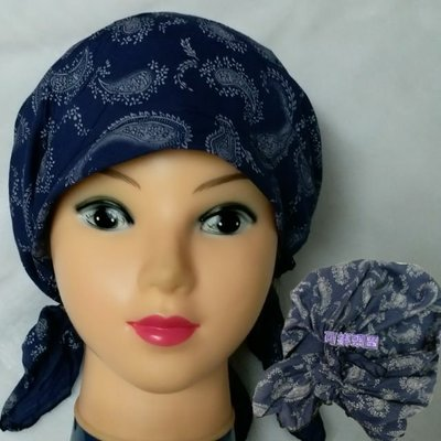 【城市小舖】韓國製~ 棉麻舒適透氣頭巾、戶外運動工作頭巾、做月子包頭巾、化療期間戴的頭巾帽、餐飲業包頭帽……都適合~