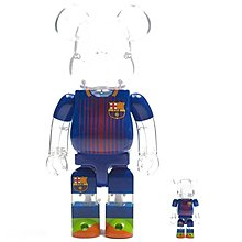 100% New Medicom Bearbrick FC Barcelona 400% & 100% Clear FCB 巴塞隆拿
