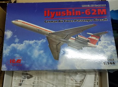 ICM-14406-Ilyushin-IL-62M-German Air Force Passenger Aircraft -1 /144-加3元費-M-25-