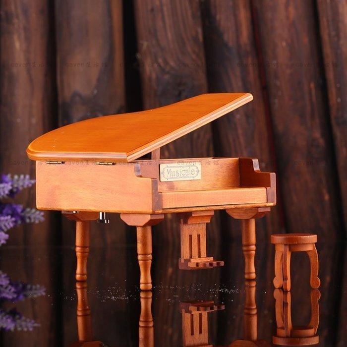 【優上精品】鍍銀機芯原木色鋼琴音樂盒八音盒天空之城聖誕禮物送女友(Z-P3139)