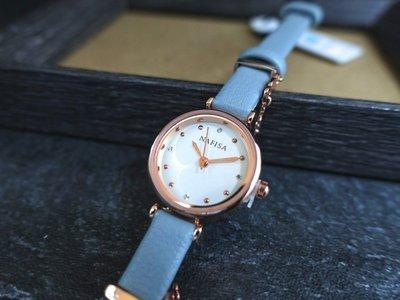 new arrival西班牙品牌nafisa百搭韓風時尚都會風格,優雅玫瑰金色錶殼清晰小機心石英錶 藍色表帶