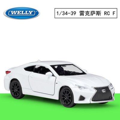 WELLY威利 1:38 雷克薩斯LEXUS RC F仿真合金汽車模型回力車