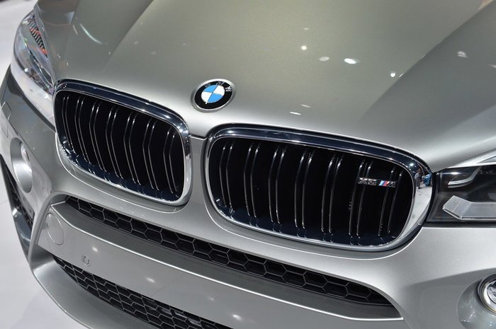【樂駒】BMW F85 X5M 原廠 水箱罩 雙柵 鍍鉻 ///M 字標 外觀 空力 鼻頭 套件