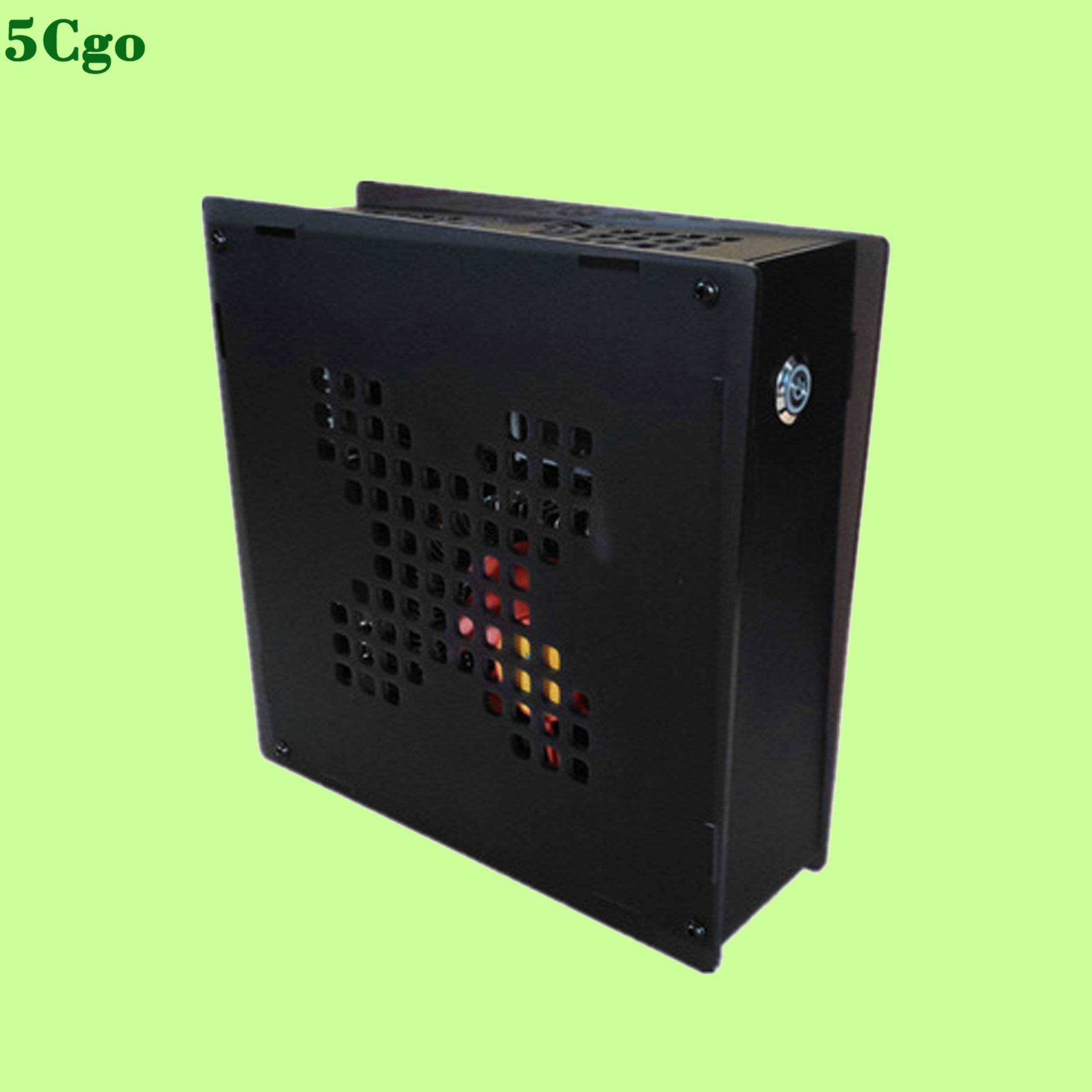 5Cgo【含稅】i5迷你電腦主機mini省電G1610微型4G網課1600家用辦公diy組裝H61主板遊戲LOL透明熒光