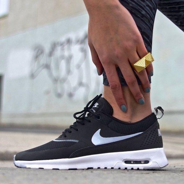 現貨 大半號穿 3F美國代購-100%正品 NIKE AIR MAX THEA 黑白 599409-007 女鞋
