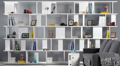 現代多格造型書櫃展示架(3件一組)