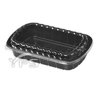 C012外燴餐盒(OPS蓋)(1400ml) (年菜盒/肋排/切片肉/熱炒/魚/海鮮/烏魚子/蟹/塑膠餐盒)