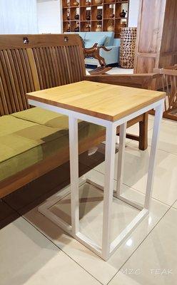 【美日晟柚木家具】鐵腳邊几 花架 茶几 小朋友寫字桌 沙發邊几 松木邊几 (特價$2000)