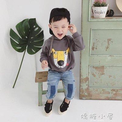 男童衛衣寶寶秋裝2018新款連帽上衣1-3歲兒童嬰兒衣服韓版休閒潮