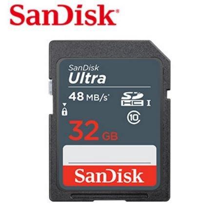 高雄 晶豪泰 SanDisk Ultra SDHC 32GB 記憶卡 48MB/s (公司貨)