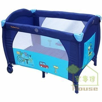 {家事達}Mother's Love  城市單層 嬰兒遊戲床  特價 含 蚊帳