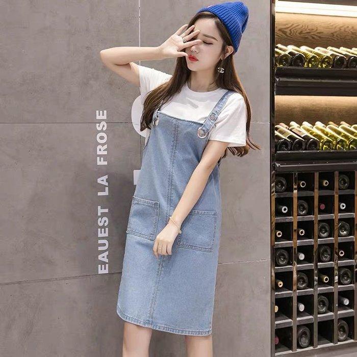 (特價)韓版氣質吊帶裙牛仔裙連身裙