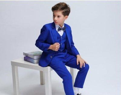 男童禮服         兒童西服套裝 男孩小主持人鋼琴演出服男童禮服寶寶款小西服  igo