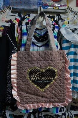 瘋日本-SWIMMER雜貨-夢幻緞面茶色包包 格紋 水玉內裡 大方包/側背包 可放A4 - 出清特價350元
