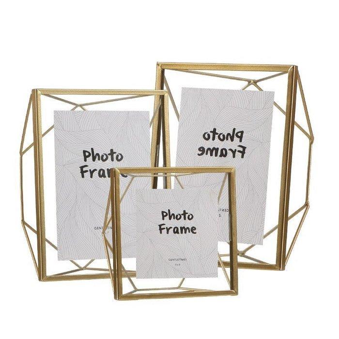 【凱洛詩家飾】現代北歐簡約金屬相框 幾何立體 鐵藝相框 金屬相框 限量優惠  現貨