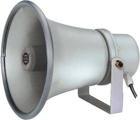 【昌明視聽】SHOW TC-15AH 內含中間變壓器 適用戶外廣播 鋁質外觀耐用 防水號角喇叭(15W)