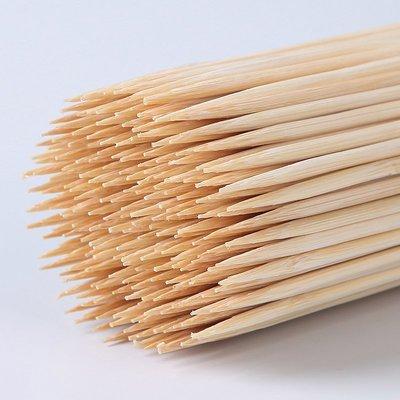 雜貨小鋪 烤腸熱狗竹簽批發15cm*2.5mm一次性關東煮小竹簽子短香腸燒烤雞排