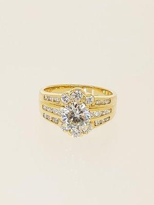 【益成當舖】流當品 白k金1.06克拉鑽石戒指 特價出清 結緣