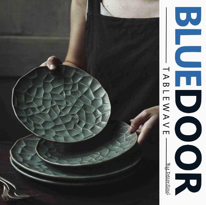 BlueD_荷葉盤 圓盤 西餐盤 8.5吋 牛排盤 義大利面盤 日式 冰花瓷 點心盤北歐風創意設計裝潢 新居入遷 送禮物