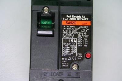 FUJI 富士 斷路器 開關 FAB NFB SA52C 2P 15A 日本製 無熔絲