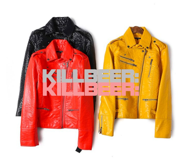 KillBeer:代購✈✈歐美復古經典70s搖滾做舊光澤油蠟皮金屬釦環翻領拉鍊騎士外套皮衣夾克010702
