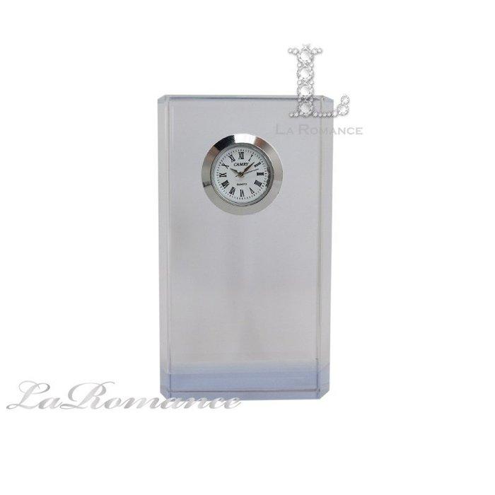 【芮洛蔓 La Romance】璀璨水晶 - 雙色六角柱造型桌鐘 / 座鐘 / 時鐘