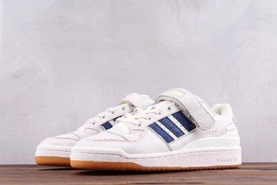 ADIDAS Originals FORUM MID LOW魔術貼復古板鞋藍色 貨號:CQ0997尺碼: 36-44