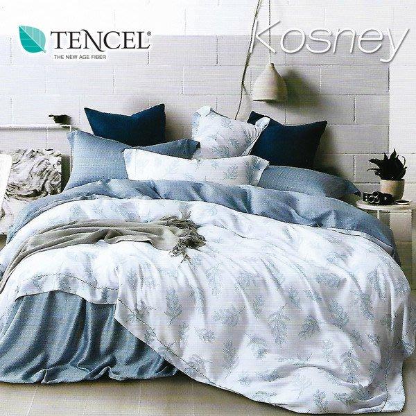 【Kosney寢具專賣】特大100%天絲TENCEL六件式兩用被套床罩組【晨暮間CTX731】下標前先詢問有無現貨