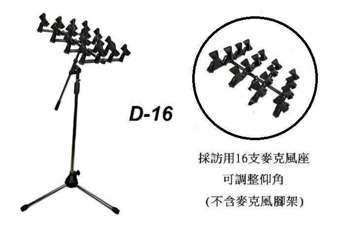 【六絃樂器】全新 Stander D-16 採訪用烤肉架 16支麥克風座 / 舞台音響設備 專業PA器材
