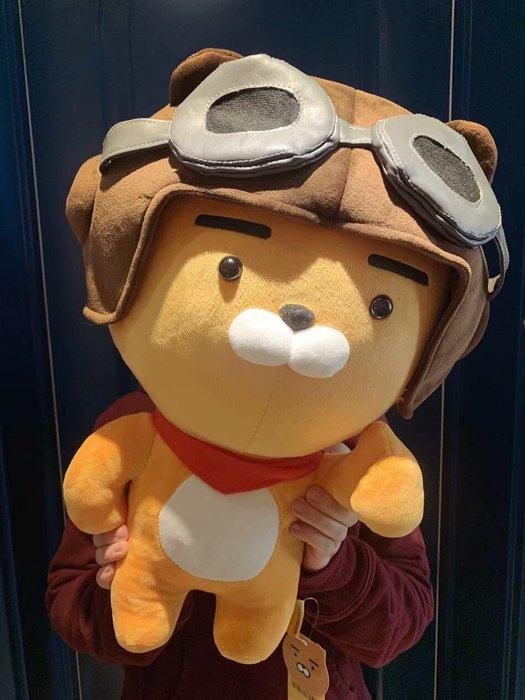 現貨52公分😍kakao卡考飛行員萊恩獅子毛絨玩具玩偶 娃娃公仔 抱枕送禮女友生日禮物新年禮物情人節禮物