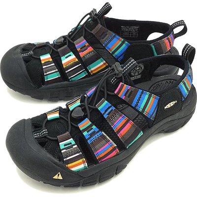 =CodE= KEEN NEWPORT H2 SANDALS編織彈性綁繩護趾防水包頭涼鞋(黑彩虹)1001942 拖鞋男