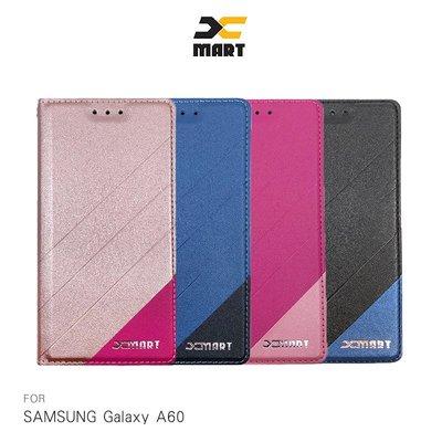 強尼拍賣~XMART SAMSUNG Galaxy A60 磨砂皮套 掀蓋 可站立 插卡 撞色 微磁吸